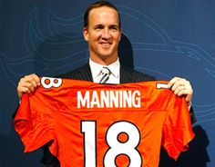 Payton Manning has 51,493 passing yards and surpassed John Elway (51,475) for the second-most in NFL history. That's a difference of 18 yards. Continuing the 18 trend, Manning's No. 18 jersey is already up for sale, and ironically ranks as the 18th best selling.