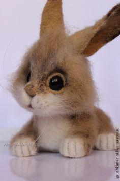 Toy animals, handmade.  Fair Masters - handmade bunny.  Handmade.