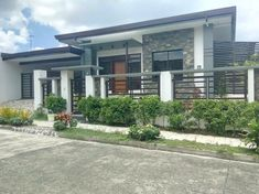 Modern Bungalow House Plans In The Philippines Modern Bungalow House Design, Modern Bungalow Exterior, House Fence Design, Dream House Exterior, Small House Design, Modern House Plans, Modern Houses, Modern Roof Design, Gate Designs Modern