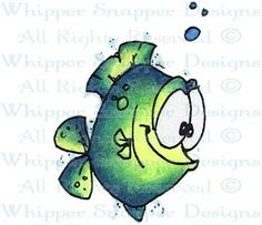 whipper snapper designs Flashy Fish Item Number	:	#JY827 cling rubber stamp