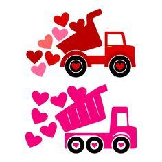 Valentine Love Truck Cuttable SVG Designs