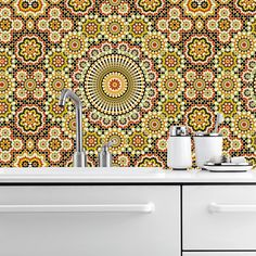 MAROC 1415 (2 colours) | All | kitchenwalls backsplash waterproof and heat resistant wallpaper