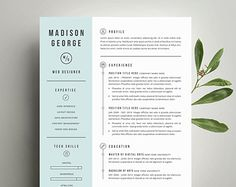 modern resume template and cover letter template for word diy printable 3 pack the - Professional Creative Resume