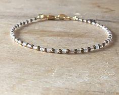 Gold Pyrite & Grey moonstone bracelet, Gold and light grey, chakra boho bracelet, womens gift, Handmade beaded bracelet, june birthstone
