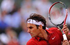 Roger Federer defeats Novak Djokovic and advances to Men's Final.  June 2011.  #tennis