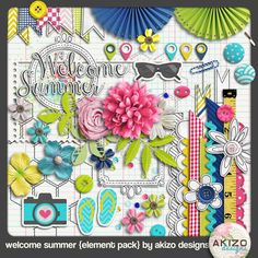 Scrapbooking TammyTags -- TT - Designer - Akizo Designs, TT- Item - Kit or Collection, TT - Theme - Summer or Beach