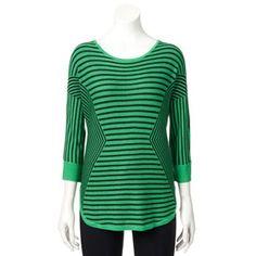 Women's Dana Buchman Striped Dolman Sweater