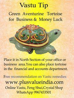 "Beautiful Green Aventurine Tortoise "" for business & money luck Feng Shui And Vastu, Feng Shui Tips, Feng Shui And Money, Feng Shui Garden, Pooja Room Door Design, Indian House Plans, Feng Shui Bedroom, India Facts, Vastu Shastra"