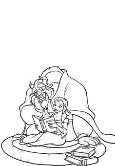 79 Best Coloring Pages/LineArt-Disney-Beauty and the Beast
