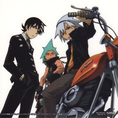 Death The Kid, Black Star & Soul <3 This is my iPhone's wallpaper, my Facebook timeline cover and my profile picture on Pinterest!! :D