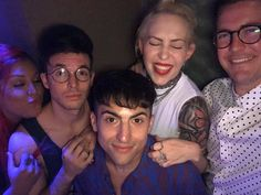 """""""mitchgrassi: last night @ the gay clurb w the bday crew!! these people made this weekend so special ❤️ """""""