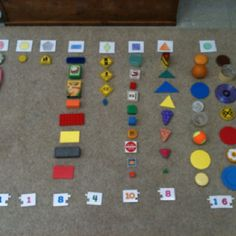 Real item shape sort for Junior Kindergarten. Put classroom items in a bag and have the students take the items out one by one. When a student chooses an item, that student tells you what shape it is and puts the item under the correct shape category on the floor! At the end, count the number of items in each category!