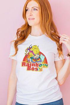 Rainbow Boss Tee — Unique, cute and colorful graphic tees for female entrepreneurs.  #entrepreneurlifestyle#fashionideas#promoteyourbusiness#brandambassador#entrepreneurlife