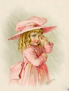 This beautiful little girl was painted by Maud Humphrey, Humphrey Bogart's mother. I love her artwork.