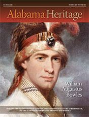 William Augustus Bowles on the cover of Alabama Heritage Winter 2012, Issue 103