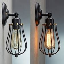 Add a little bit rustic style through your lighting device in your life with this ParrotUncle special wall sconce.