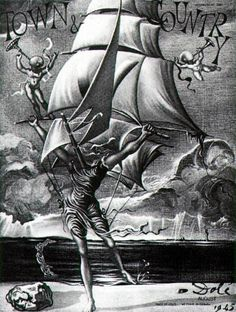 Victory - Woman Metamorphosing into a Boat with Angels, 1945. Salvador Dalí #Surrealismo @deFharo