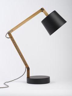 Black/Grey Angle Table Lamp 2.0 [Douglas + Bec NZ]