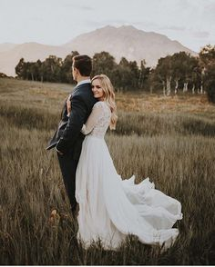"""Leanne Marshall on Instagram: """"Beautiful image by @autumnnicole_ of our gorgeous bride in a Solaine #weddingdress from our stockist @altamodabridal """""""