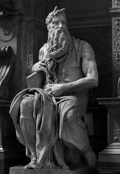 Michelangelo Moses 1505-1515 Marble Rome