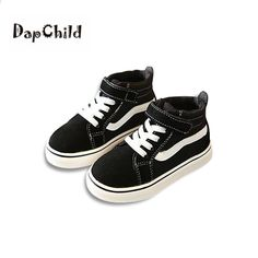 hot sales 77a3b d871a DapChild Kids Sneakers Boys Shoes Girls Spring Sports Shoes Moda Bianco  Nero Calzature Marca bambini Scarpe Suola in gomma di alta qualità