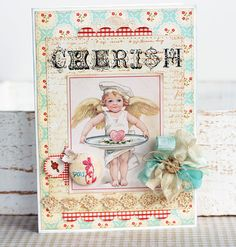 shabby chic card - love it