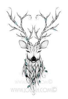 Poetic Deer by LouJah | ⁂ Spirit Animals ⁂