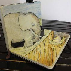 Darren Frisina's Elephant perspective drawing