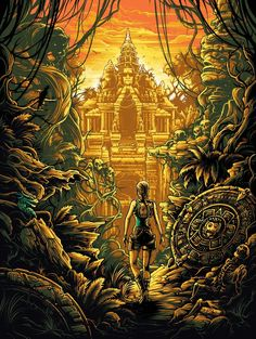 "Dan Mumford ""The knowledge of the Ancients. Resident Evil, Andre Luis, Dan Mumford, The Dark Knight Trilogy, Rock Poster, Tomb Raider Lara Croft, Bojack Horseman, Video X, Star Wars Episodes"