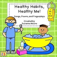 Healthy Habits, Healthy Me! reinforces health concepts with twelve original songs (sung to familiar tunes), chants, and fingerplays. Color and black and white templates are provided; the black and white pages offer activities for students to complete. Bonus vocabulary cards are also included! (PK -2)