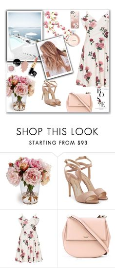 """Rose"" by emina-la ❤ liked on Polyvore featuring Paul Andrew, Chi Chi, Kate Spade and Casetify"