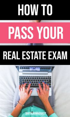 How to Pass Your Real Estate License Exam! (Easiest Way) - Digital Nomad Quest Real Estate Test, Real Estate School, Real Estate Auction, Real Estate Career, Real Estate Business, Real Estate Investing, Real Estate Marketing, Business Tips, Real Estate Agent License