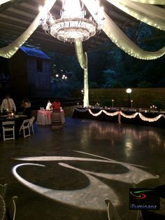 B - initial on the dance floor of the Historic Cavern Nite Club | Wedding in a Cave | Lost River Cave Wedding | Illuminanz | Bowling Green KY