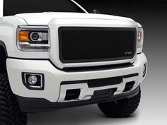 GMC Sierra Insert billet grille might involves taking off the factory grille, but cutting work is not required. Air craft grade aluminum solid billet grille insert can protect the front end of your vehicle. 2017 Gmc Sierra 2500, Sierra 1500, Gmc 2500, Gmc Sierra 2500hd, T Rex, Truck Parts, Maine, Ebay, Black