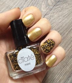 Ciaté Mini Mani Month day 11 Bumble Bee Caviar