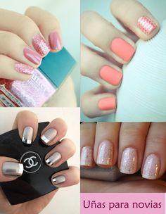 Diferentes estilos de uñas para el día de tu #Boda