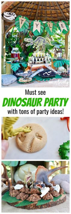 Must see dinosaur party with tons of dinosaur party ideas!