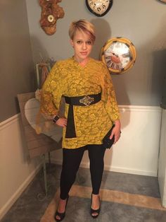 LuLaRoe Lindsay kimono as a wrapped top with a belt and leggings - GORGEOUS!