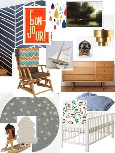 The Nursery Files: Marianne's Reality Mood Board From HGTV's Design Happens Blog (http://blog.hgtv.com/design/2013/03/01/the-nursery-files-my-reality-mood-board/?soc=pinterest)