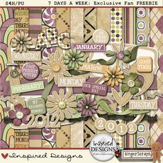 7 Days A Week full kit freebie from Inspired Designs by Crystal