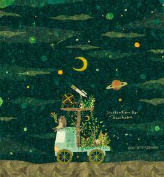 TRAVEL. ウェブサイトにアニメーションバージョンを掲載しています。 By Megumi Inoue. http://sorahana.ciao.jp/