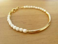 Items similar to Champagne and Gold Bangle Bracelet, Beaded Friendship Bracelet, Minimalist Bracelet, Bridesmaid Bracelet on Etsy Bracelet Fil, Gold Bangle Bracelet, Gold Bangles, Jewelry Bracelets, Diamond Bracelets, Silver Bracelets, Gold Armband, Armband Diy, Handmade Bracelets