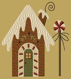 "PK130 ""Gingerbread House 1"" Version 1 - 5x7"