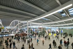 Commuters will be rejoice with the news that the new Utrecht Centraal station designed by Benthem Crouwel Architects has now opened to the public in the Netherlands. Construction began in 2010 and the Amsterdam-based firm has been working on the projec. Station To Station, Central Station, Train Station, Utrecht, Roof Covering, Netherlands, Transportation, Public, Exterior