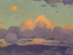 Quick sunset study by William Robinson Leigh