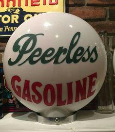 Original 1-Piece Etched Peerless Gas Globe