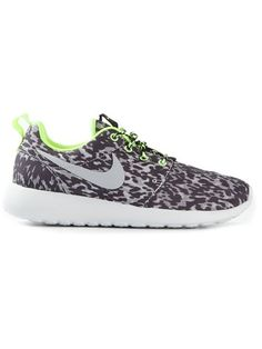 Nike Roshe Run: leopard print with lime accents