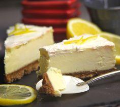 Cheesecake au citron, sans cuisson - Envie de bien manger. Plus de recettes ici : www.enviedebienmanger.fr