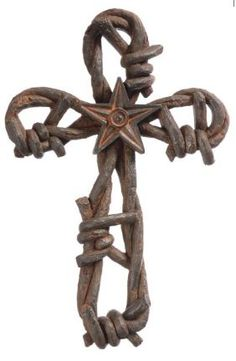 Gift Corral Western Cross for Gina Crosses Decor, Wall Crosses, Wooden Crosses, Barbed Wire Decor, Rustic Cross, Old Rugged Cross, Sign Of The Cross, Christian Decor, Cross Crafts