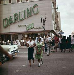 Houston, TX street scene, 1956
